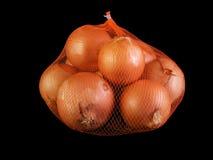 Saco das cebolas Fotografia de Stock Royalty Free