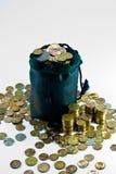 Saco das moedas Imagem de Stock