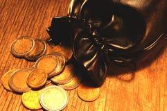 Saco das moedas imagem de stock royalty free
