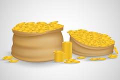 Saco das moedas Fotos de Stock