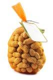Saco de amendoins isolados Fotografia de Stock Royalty Free
