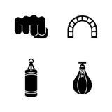 Saco de arena Iconos relacionados simples del vector Fotografía de archivo libre de regalías