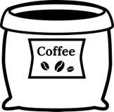 Saco de café aberto com etiqueta ilustração do vetor