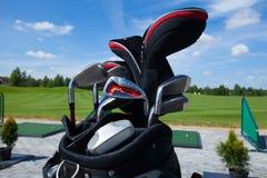 Saco de clube do golfe Imagem de Stock Royalty Free