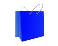 Saco de compra azul Fotos de Stock