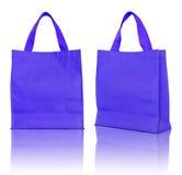Saco de compra azul Fotografia de Stock