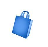 Saco de compra azul Foto de Stock Royalty Free