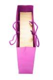 Saco de compra cor-de-rosa Fotografia de Stock