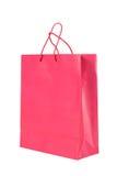 Saco de compra de papel cor-de-rosa escuro fotos de stock royalty free