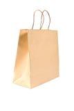 Saco de compra de papel no branco Fotos de Stock Royalty Free