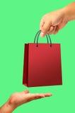 Saco de compra disponivel Imagem de Stock