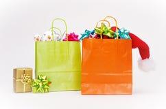 Saco de compra do Natal Imagem de Stock Royalty Free