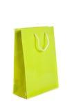Saco de compra do verde de cal Imagens de Stock Royalty Free