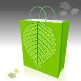Saco de compra favorável ao meio ambiente ilustração stock