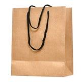 Saco de compra feito do papel recicl marrom Foto de Stock Royalty Free