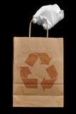 Saco de compra recicl Fotografia de Stock