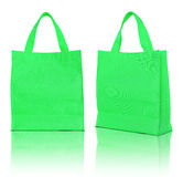 Saco de compra verde Imagem de Stock