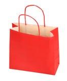 Saco de compra vermelho Fotografia de Stock