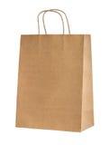 Saco de compras de papel bege Foto de Stock Royalty Free