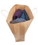 Saco de compras de papel isolado completamente Imagem de Stock Royalty Free