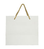 Saco de compras de papel isolado no branco Imagens de Stock
