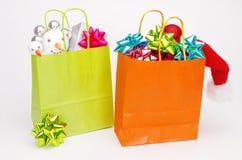 Saco de compras do Natal Foto de Stock Royalty Free