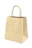 Saco de compras do papel de Brown isolado no fundo branco Fotografia de Stock