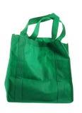 Saco de compras do verde de Eco Foto de Stock