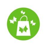 Saco de compras e borboletas Foto de Stock Royalty Free