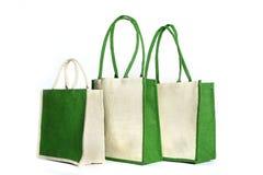 Saco de compras feito fora do saco reciclado da juta Imagem de Stock