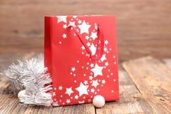 Saco de compras para o Natal fotos de stock royalty free