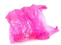 saco de compras plástico no fundo branco imagens de stock royalty free