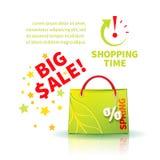 Saco de compras verde-claro Fotos de Stock