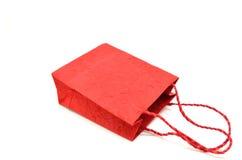Saco de compras vermelho Fotografia de Stock Royalty Free