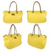 Saco de couro amarelo Imagens de Stock