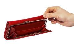 Saco de couro vermelho das mulheres imagens de stock royalty free