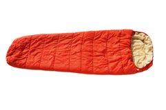 Saco de dormir anaranjado Fotografía de archivo