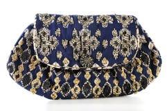 Saco de embreagem bordado com grânulos Foto de Stock Royalty Free