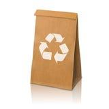 Saco de empacotamento de papel realístico do vetor vazio do ofício Foto de Stock