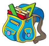 Saco de escola com livros Imagem de Stock Royalty Free