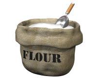 Saco de farinha Imagens de Stock Royalty Free