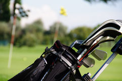 Saco de golfe Fotos de Stock Royalty Free