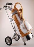 Saco de golfe isolado Fotos de Stock