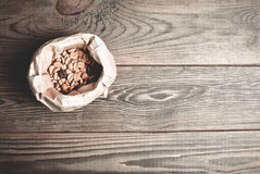 Saco de granos de café Imagenes de archivo