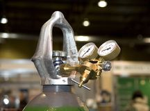 Saco de gás com manometres Fotografia de Stock Royalty Free