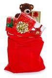 Saco de la Navidad por completo de regalos Fotos de archivo libres de regalías