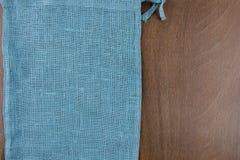 Saco de la tabla de madera del lado izquierdo Imagen de archivo