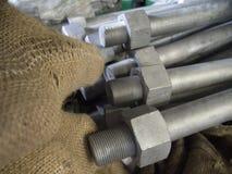 Saco de las industrias de acero del tornillo de la tuerca fotos de archivo libres de regalías