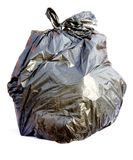 Saco de lixo preto Fotografia de Stock