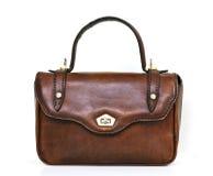 Saco de mão de couro do vintage Foto de Stock Royalty Free